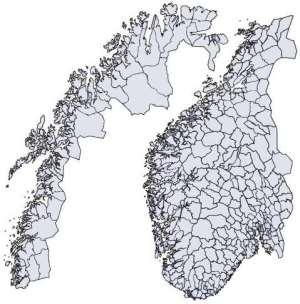 norge kommuner kart Aquapartner.no norge kommuner kart